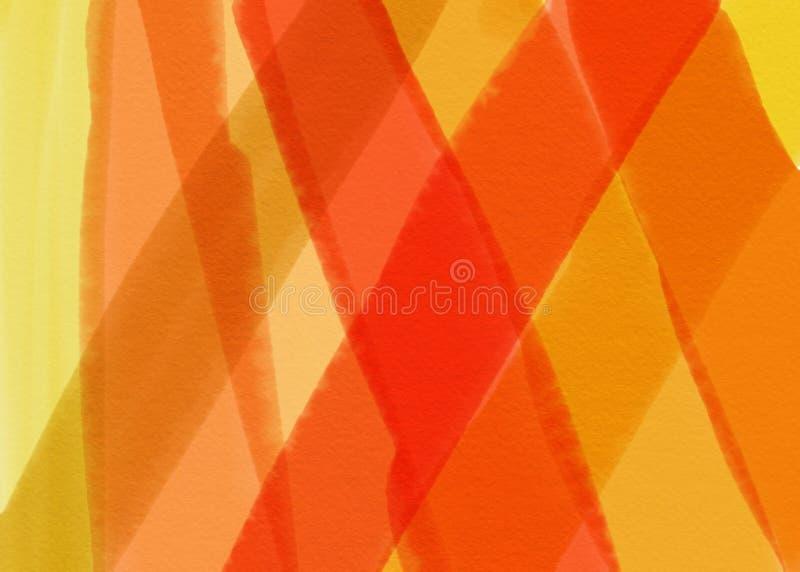 Koloru rocznika akwareli pastelowy abstrakcjonistyczny tło z barwionymi cieniami brown, czerwony, żółty kolor, obrazy royalty free