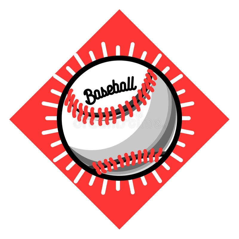 Koloru rocznika baseballa emblemat royalty ilustracja