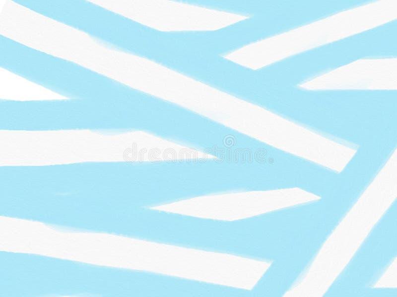 Koloru rocznika pastelowy abstrakcjonistyczny tło z barwionymi cieniami błękitny i biały kolor, ilustracja ilustracja wektor