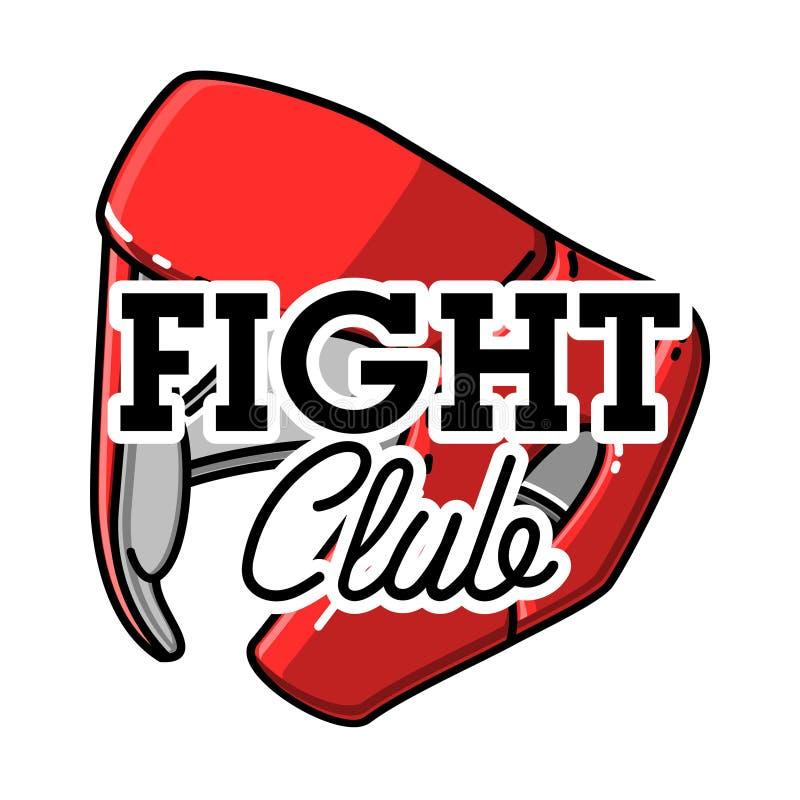 Koloru rocznika walki klubu emblemat ilustracja wektor