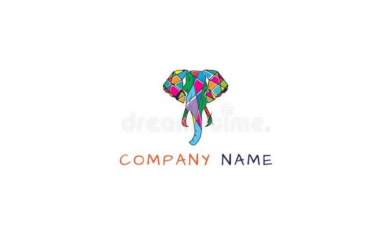 Koloru słonia logo wektorowy wizerunek ilustracji