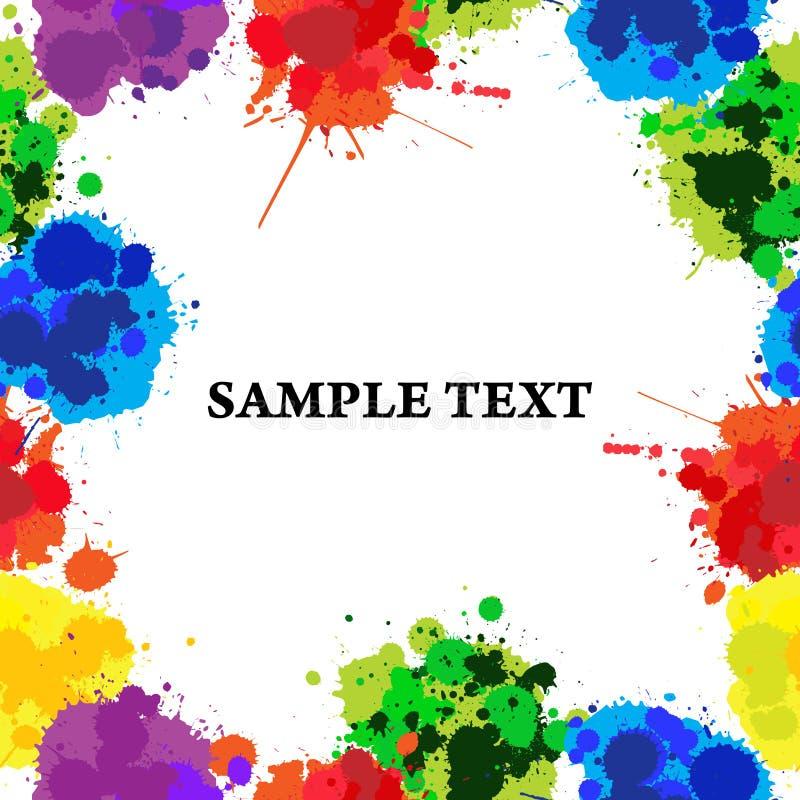koloru seamles splats ilustracja wektor