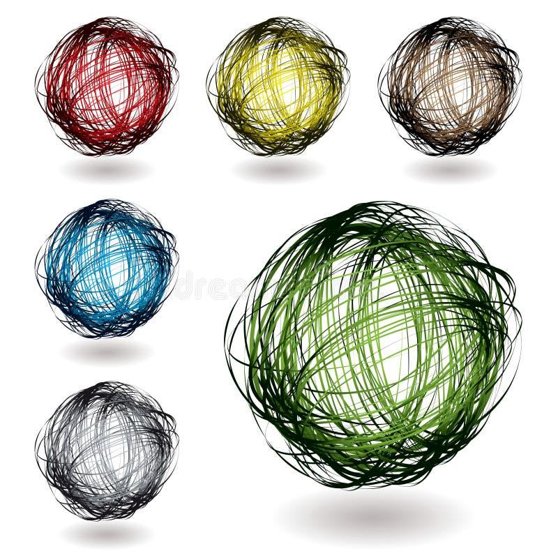 koloru skrobaniny różnica ilustracji