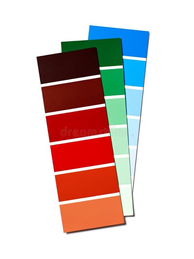 Koloru swatch odizolowywający na bielu zdjęcia royalty free