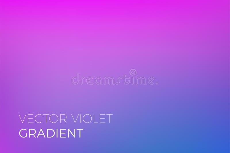 Koloru tła gradientowej purpurowej błękitnej abstrakcjonistycznej miękkiej mieszanki modny wektorowy lekki skutek royalty ilustracja