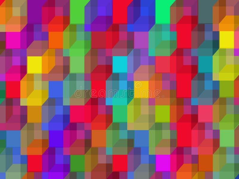 Koloru wektorowy tło z dices royalty ilustracja