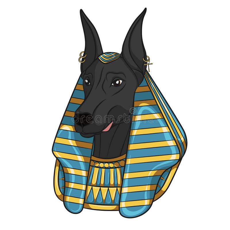 Koloru wektorowy wizerunek Anubis ilustracji