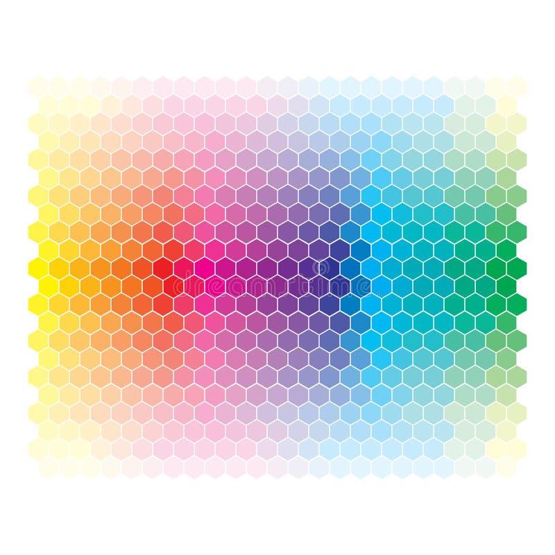 Koloru widma abstrakcjonistyczny koło, kolorowi diagramów półdupki ilustracja wektor