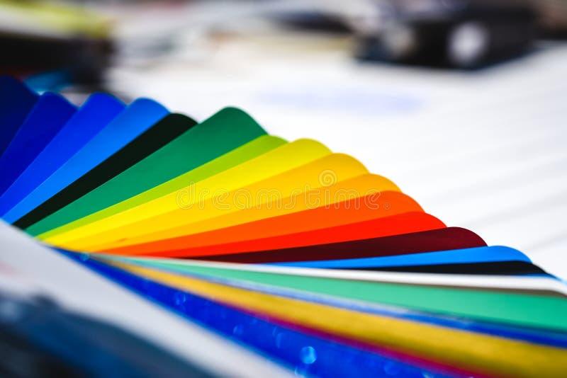 Koloru widma paleta pobiera próbki materialnego projekt zdjęcia royalty free