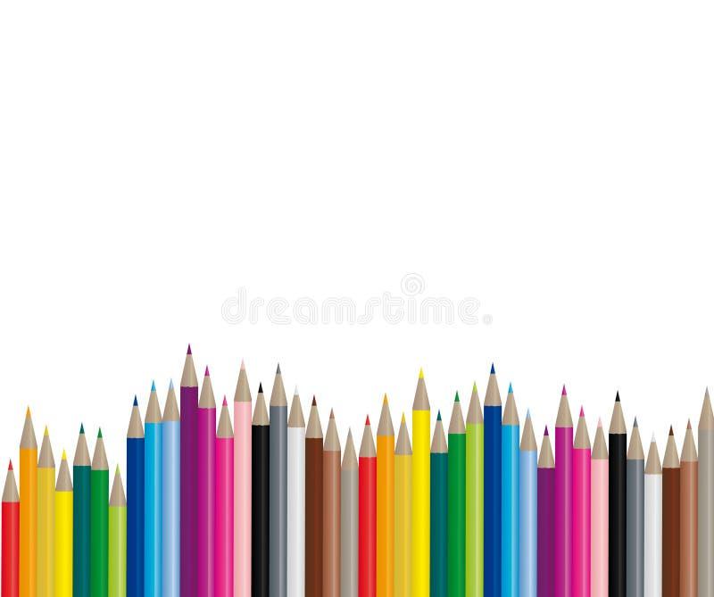 koloru wizerunku ołówków wektor ilustracja wektor