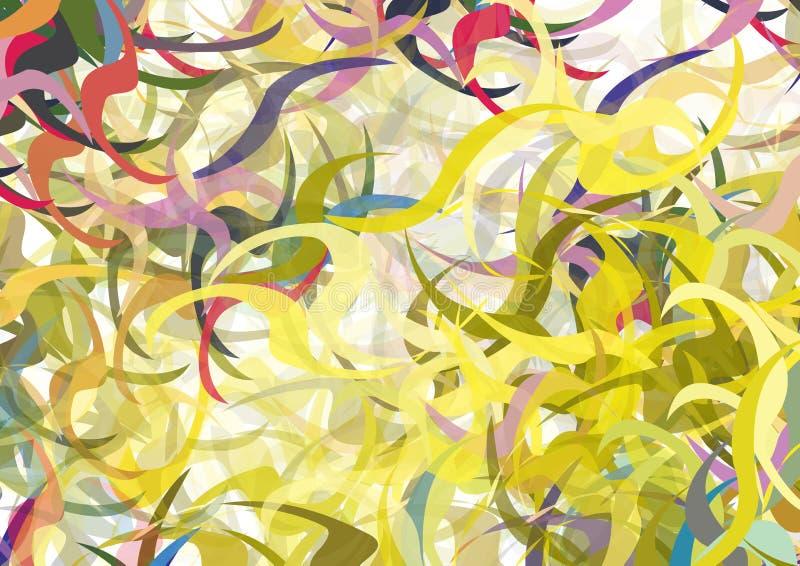 koloru zawijasów wektor ilustracja wektor