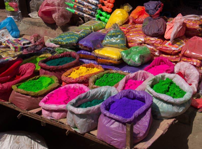 Kolory dla sprzedaży w Nepal zdjęcia royalty free