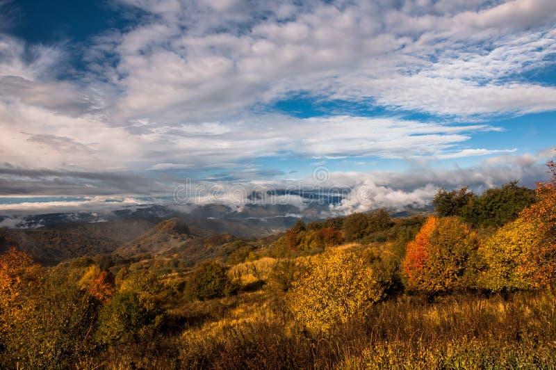 Kolory jesień w Gruzja Końcówka Październik 2015 zdjęcia stock