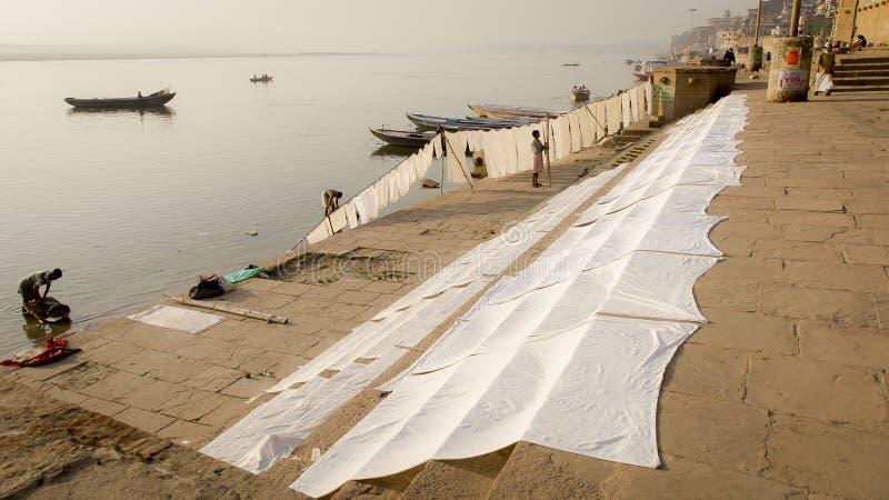 Kolory płótno w Benares, Varanasi - obrazy stock