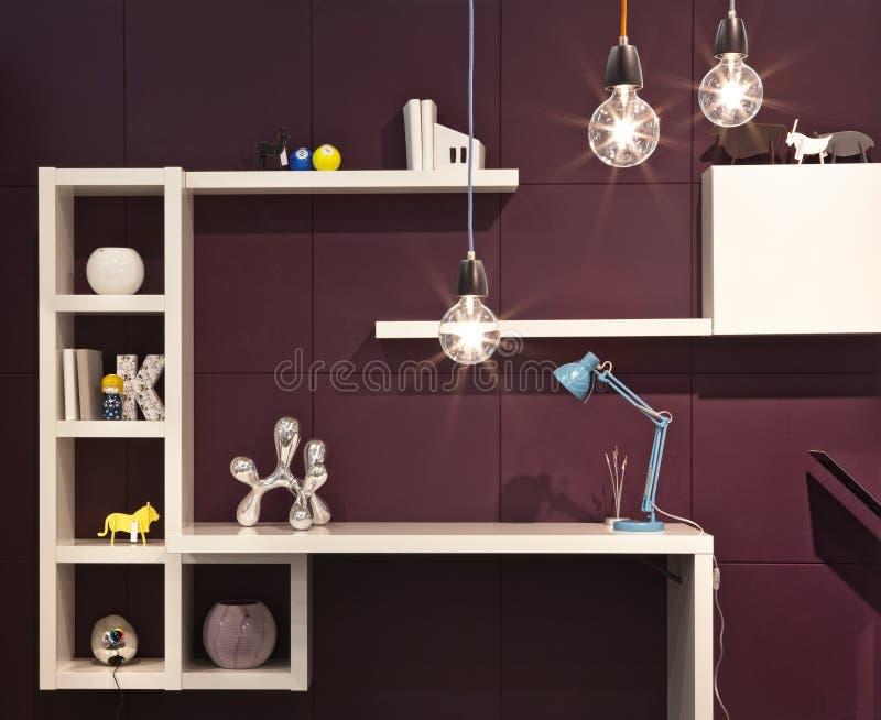 kolory projektują różny domowy wewnętrzny oświetleniowy nowego obraz stock