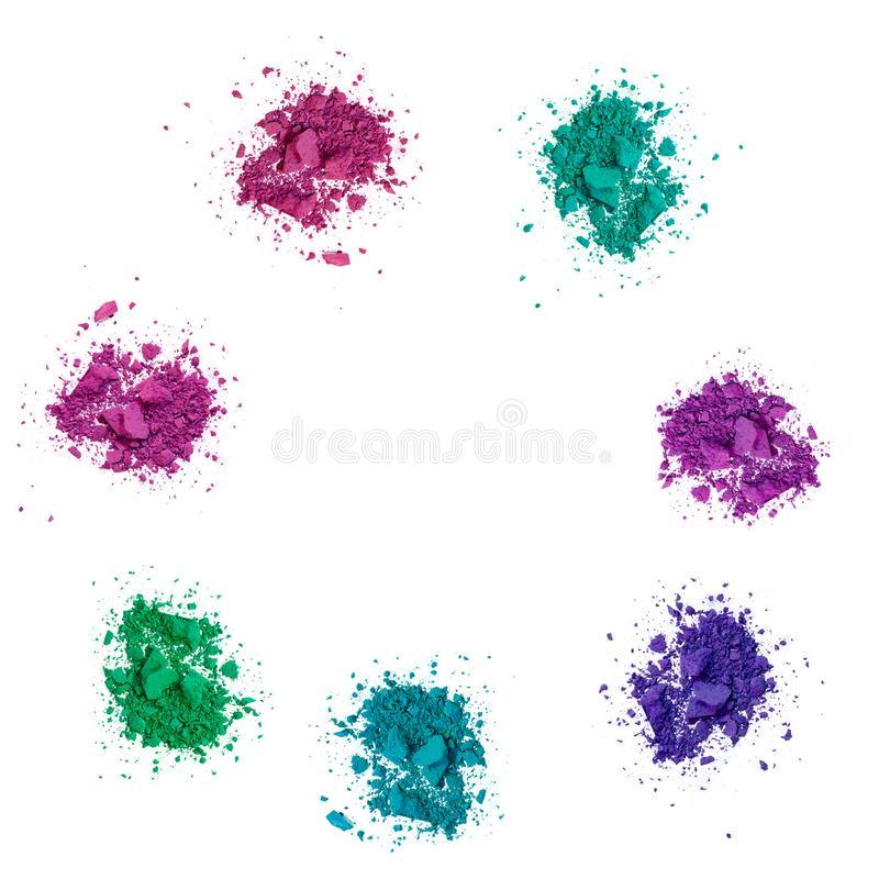 Kolory uzupełniali oko cień na bielu obrazy stock
