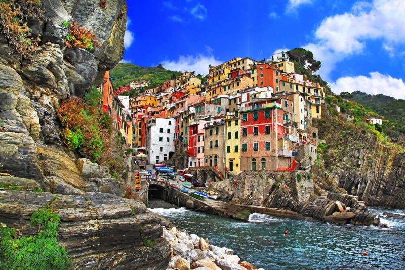 Kolory Włochy, Riomaggiore - obraz royalty free