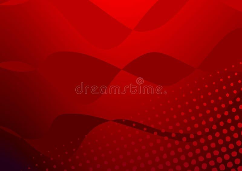 kolory w półtonach czerwony royalty ilustracja