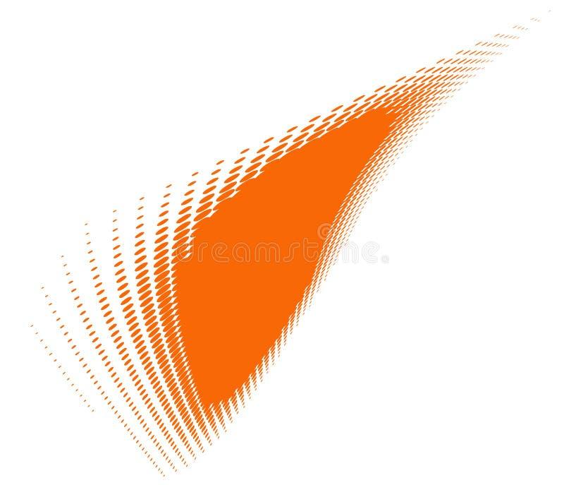 kolory w półtonach pomarańczowy bang royalty ilustracja