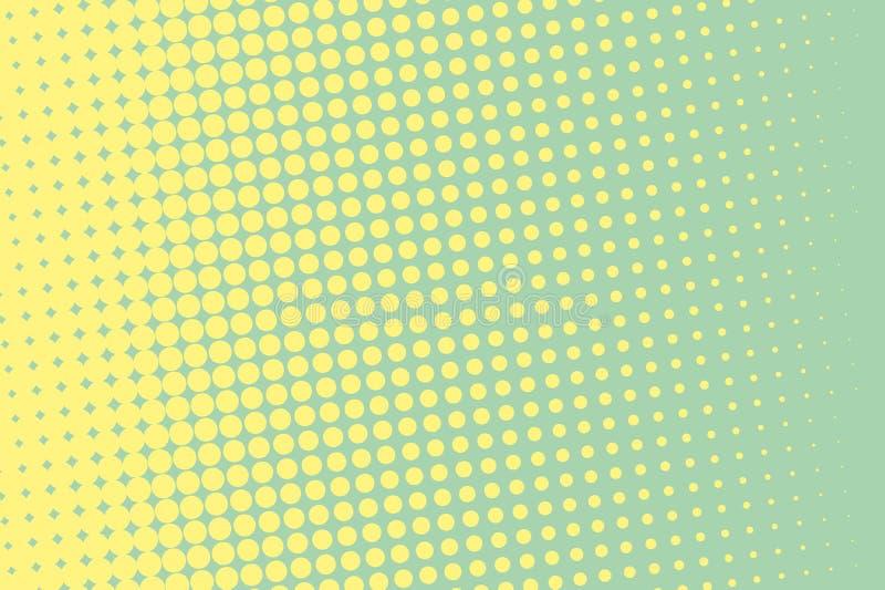 kolory w półtonach tła logo przestrzeni tekstu ilustracyjny wektora Komiczka kropkujący wzór Wystrzał sztuki retro styl royalty ilustracja