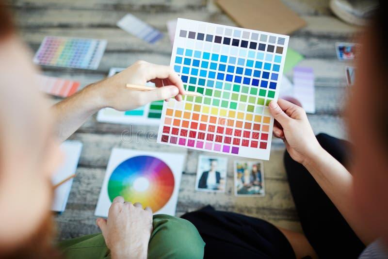Kolory w palecie zdjęcie stock