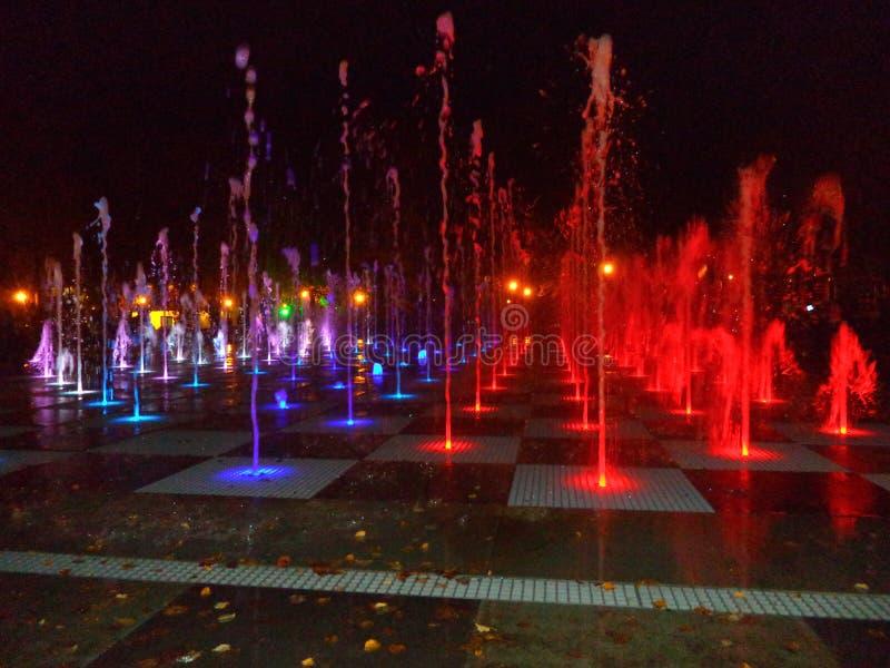 Kolory wodna fontanna Kazan 2016 obrazy stock