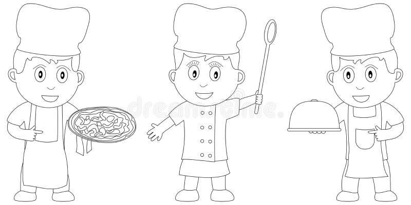 kolorystyk 17 książkowych dzieciaków ilustracja wektor