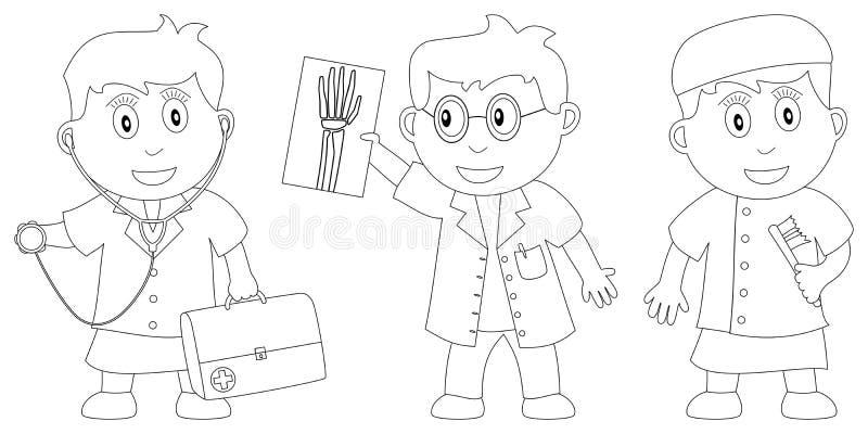 kolorystyk 7 książkowych dzieciaków ilustracja wektor
