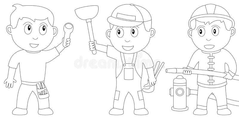 kolorystyk 9 książkowych dzieciaków ilustracja wektor