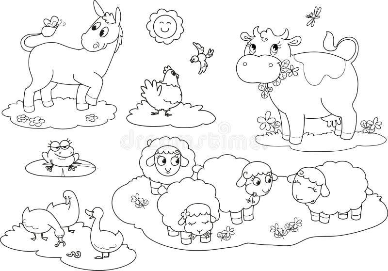 Download Kolorystyk Zwierzęta Gospodarskie 2 Ilustracja Wektor - Obraz: 26554041