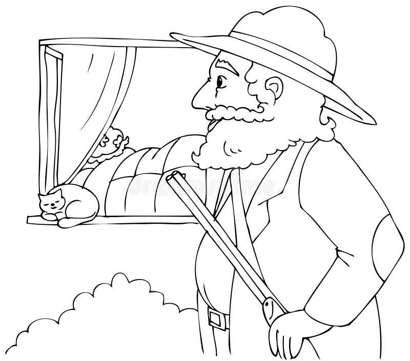 Kolorystyka Jeździeckiego kapiszonu Czerwony myśliwy ilustracja wektor