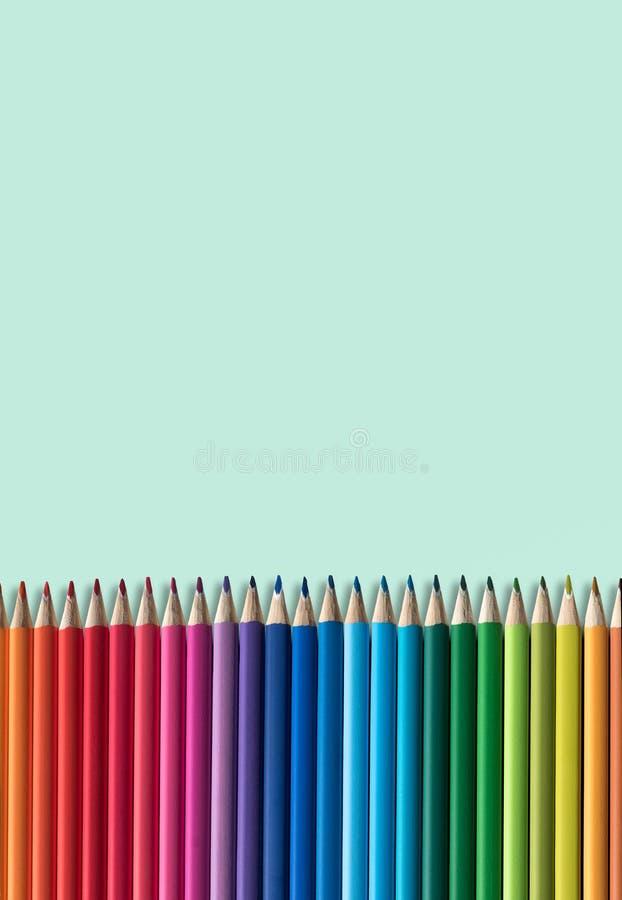 Kolorystyka ołówki z kopii przestrzenią obraz royalty free