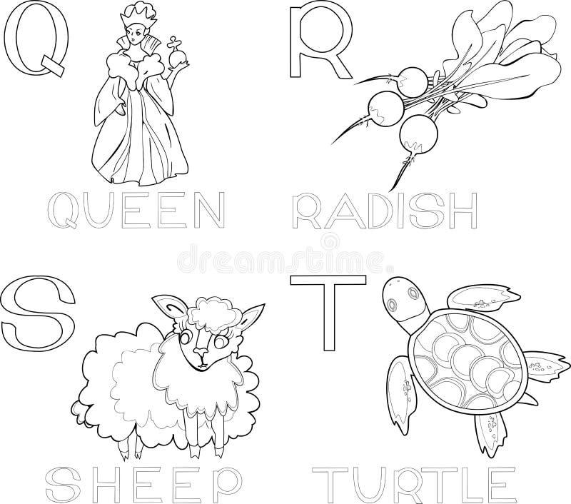 Download Kolorystyki abecadło ilustracja wektor. Ilustracja złożonej z korona - 53783768