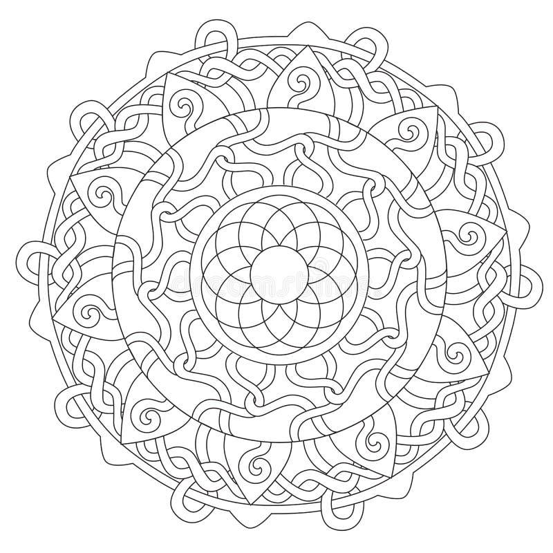 Kolorystyki dekoraci Linowy ornament royalty ilustracja