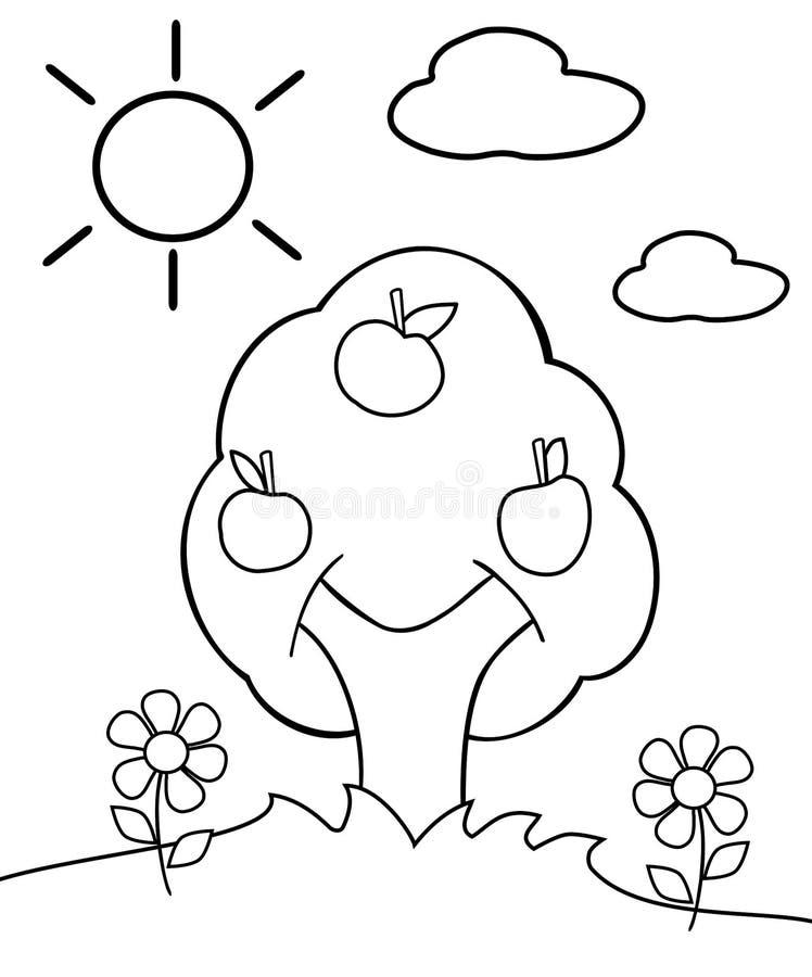Kolorystyki drzewo ilustracji