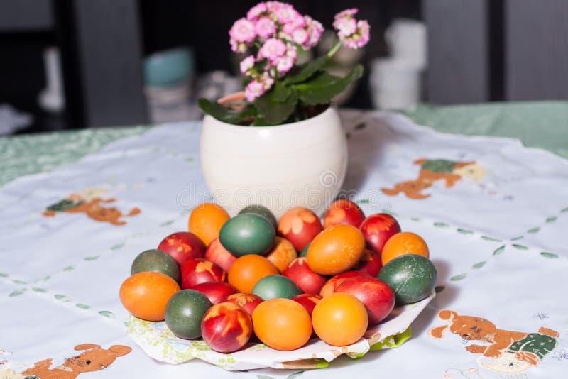 Kolorystyki Easter jajka w naturalnych barwidłach zdjęcie royalty free