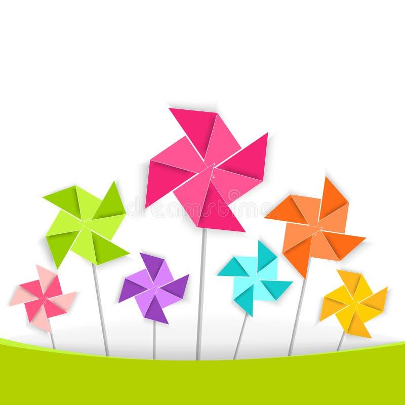 Kolorystyki kreskówki pinwheel, wektor EPS10 royalty ilustracja