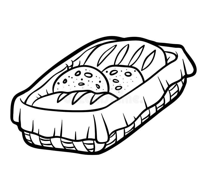 Kolorystyki książka, Chlebowy kosz ilustracji