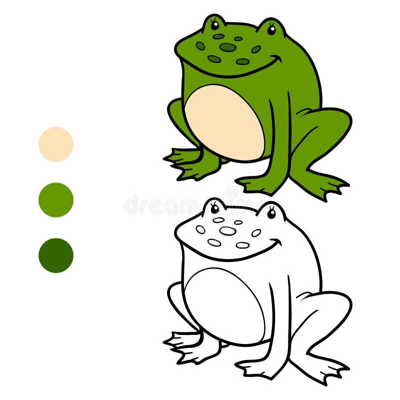 Kolorystyki książka dla dzieci (żaba) royalty ilustracja