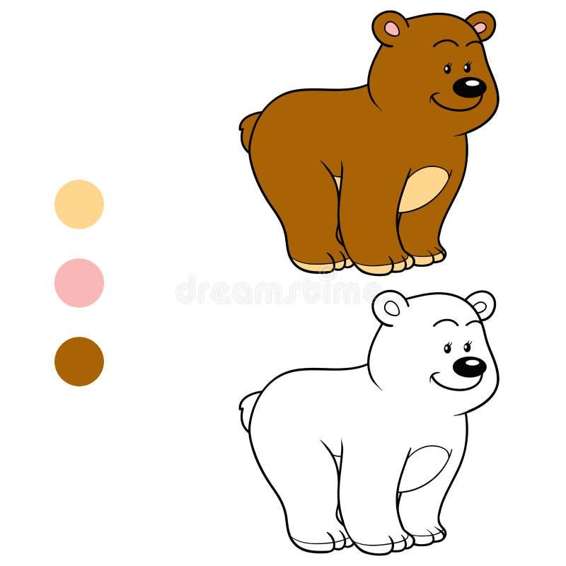 Kolorystyki książka dla dzieci (miś) ilustracji