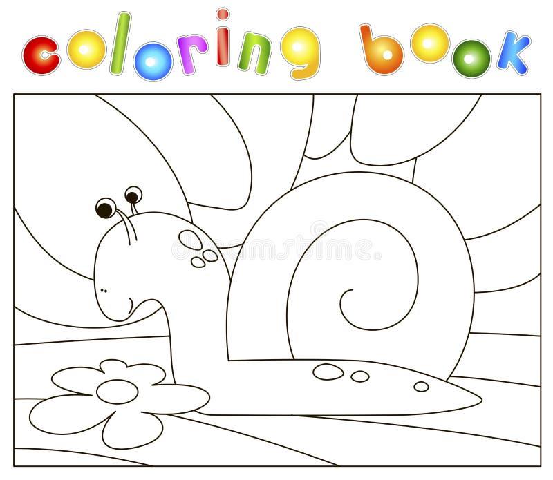 Kolorystyki książka dla dzieciaków ilustracja wektor