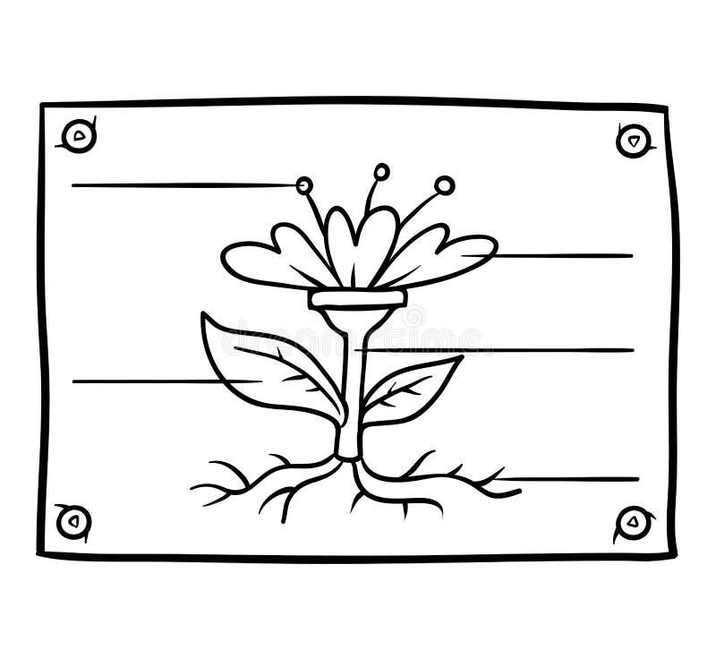 Kolorystyki książka, edukacja diagram z fower royalty ilustracja
