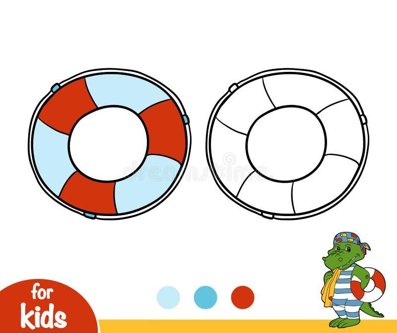 Kolorystyki książka, Lifebuoy royalty ilustracja
