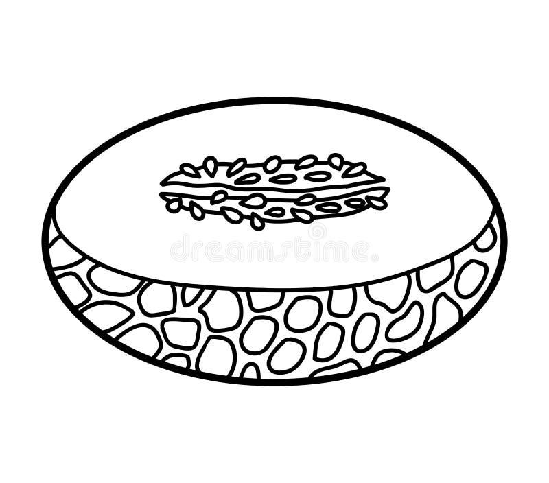 Kolorystyki książka, miodunka melon ilustracji