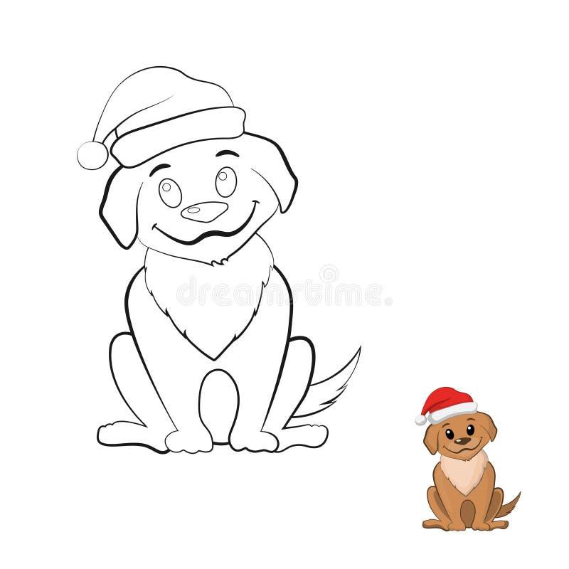 Kolorystyki książka z szczeniakiem w kreskówka stylu ilustracji