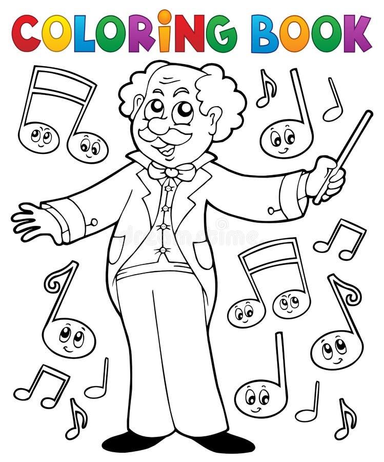 Kolorystyki książki muzyki mistrzowie royalty ilustracja