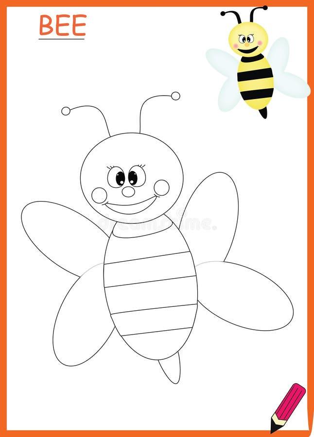 Kolorystyki książki pszczoła ilustracja wektor