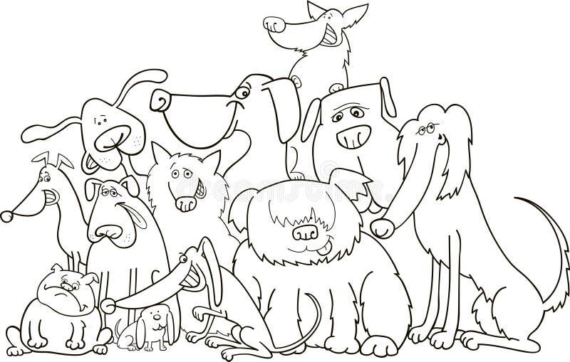 kolorystyki psów grupa royalty ilustracja