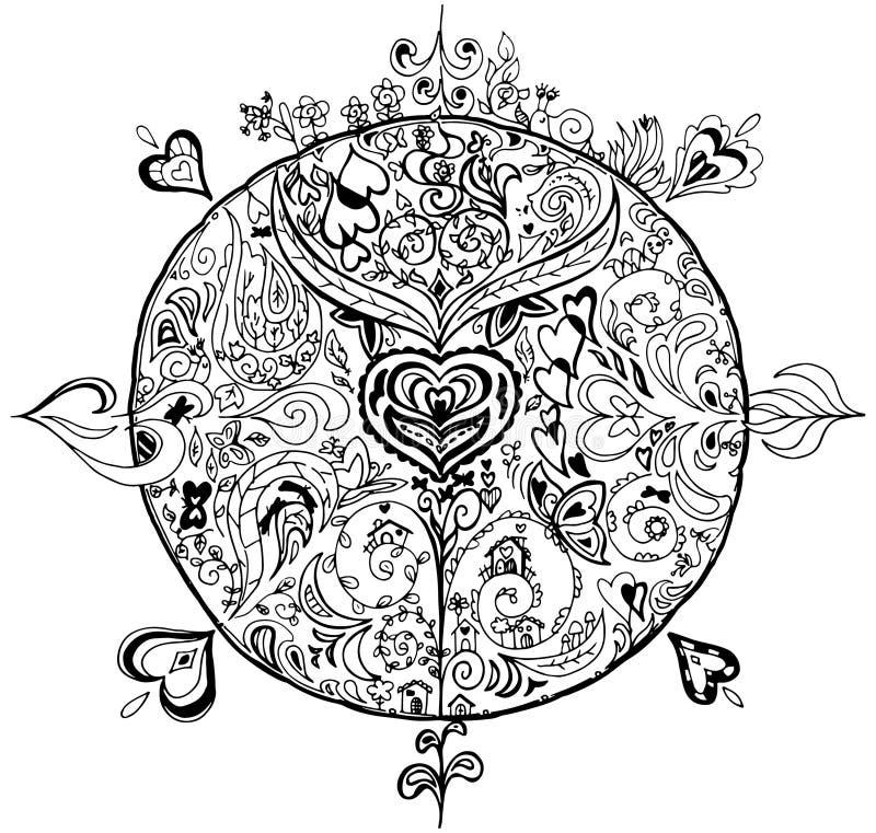Kolorystyki wiosny mandala ilustracji