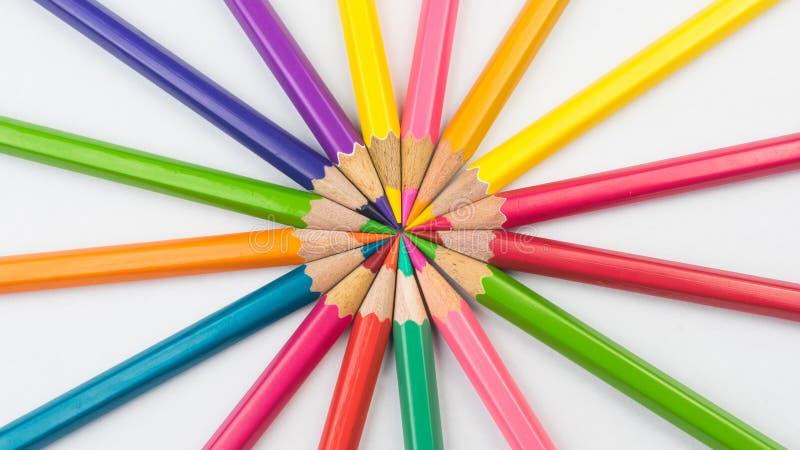 Koloryt ołówki zdjęcie stock